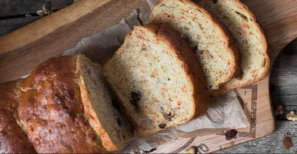Carrot Raisin Walnut Bread