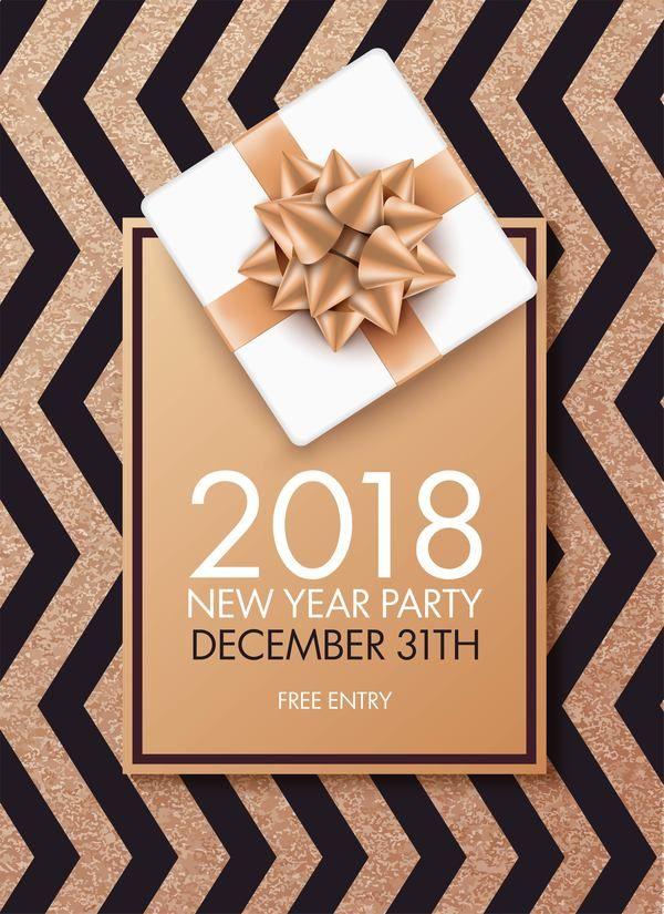 Free eps file 2018 new year party invitation card with bow vector free eps file 2018 new year party invitation card with bow vector download name 2018 new year party invitation card with bow vector files source stopboris Choice Image