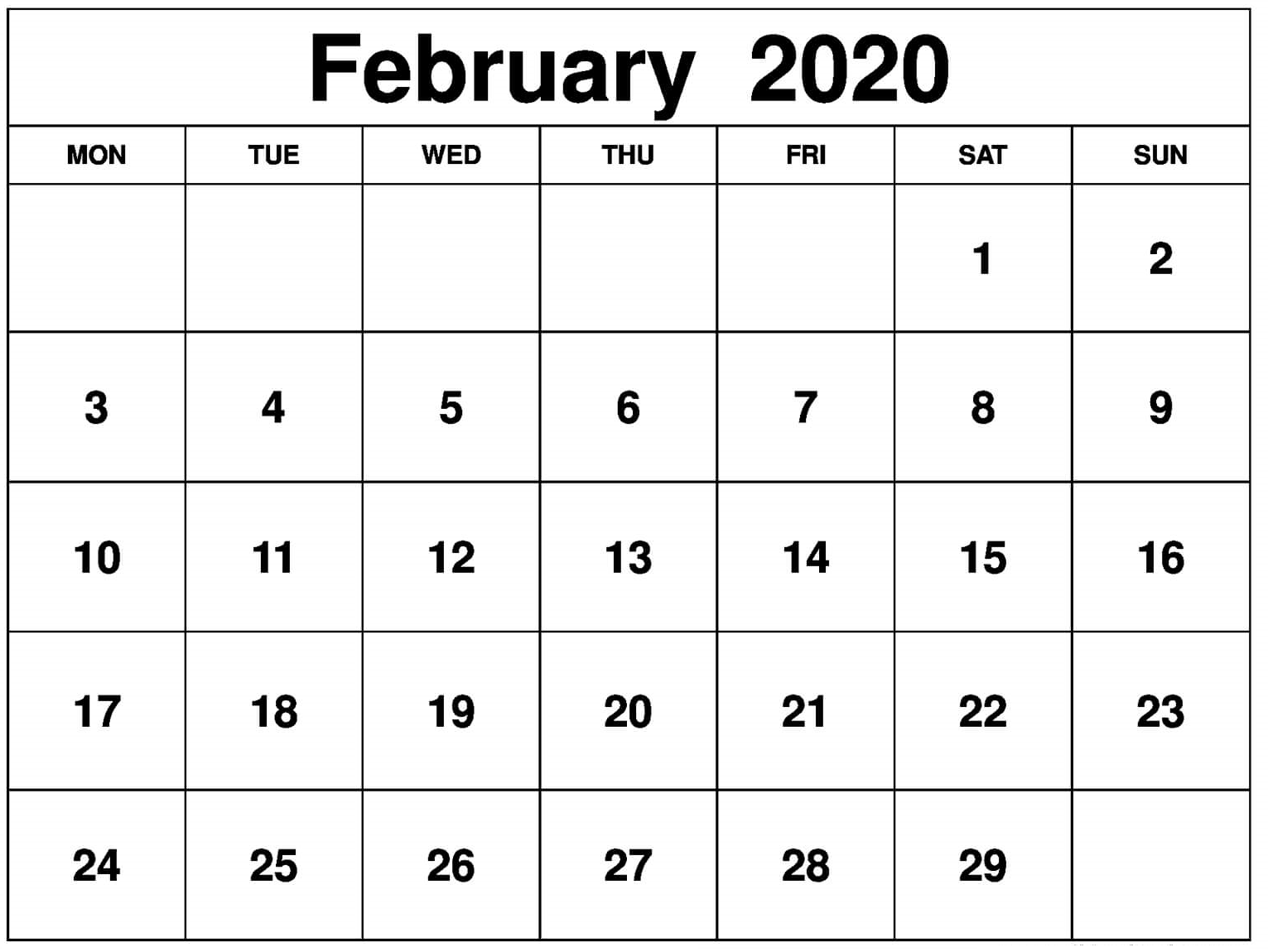 February Calendar Word Excel Amp In With