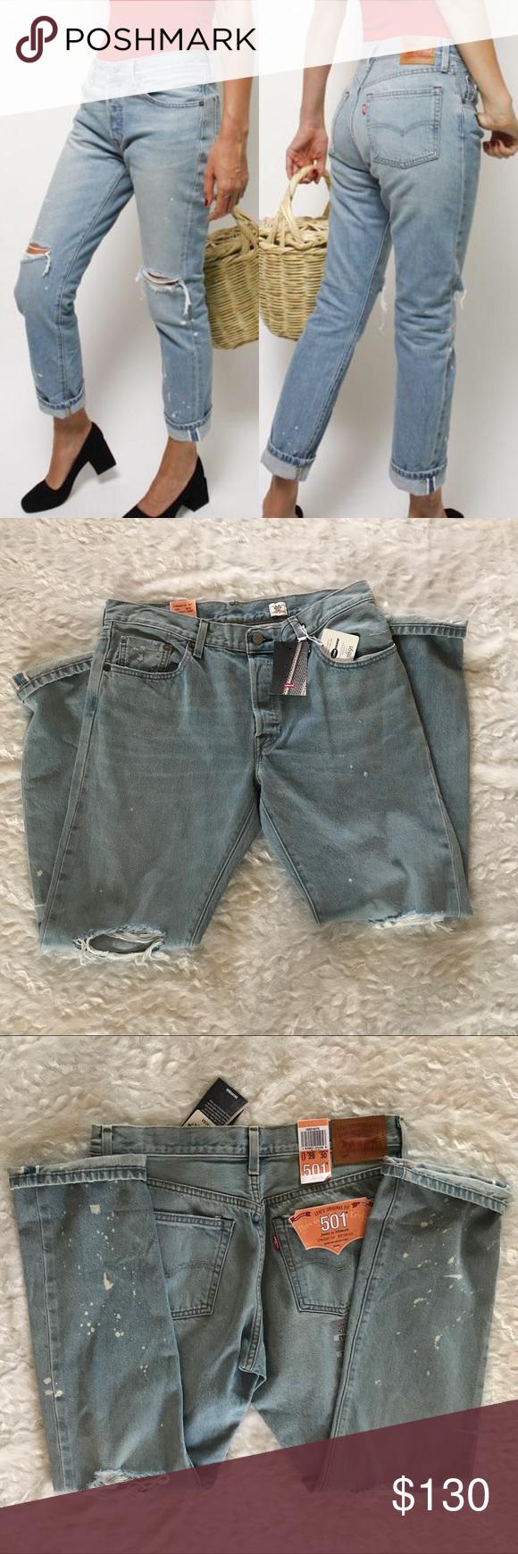 1c241d45eb91 NEW Levi's 501 Selvedge White Oak Original Jeans NWT New with tags Levi's  501 Selvedge White