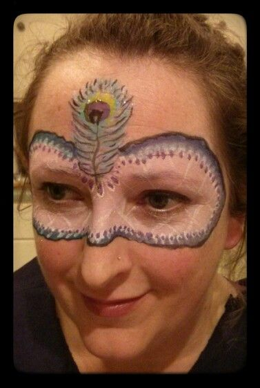 Peacock Mask ~ Chico Face Painting