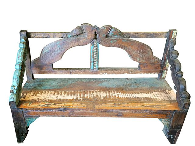 Enjoyable Classic Garden Bench Carved Wood Indian Furniture Antique Creativecarmelina Interior Chair Design Creativecarmelinacom