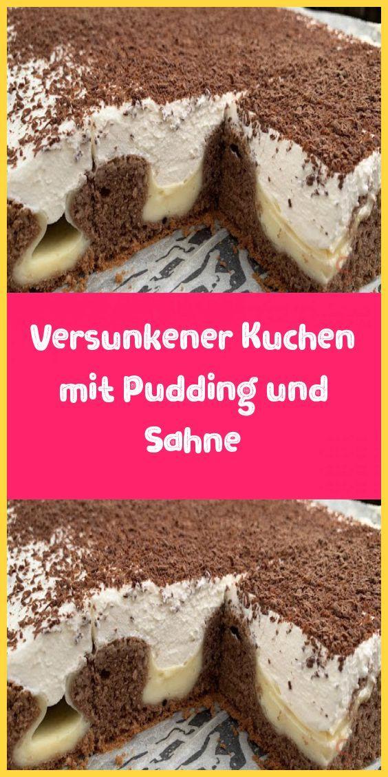Versunkener Kuchen mit Pudding und Sahne – Rezeptgeschichten