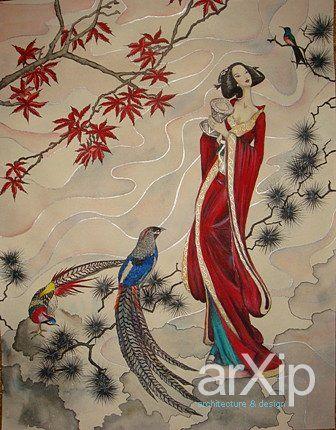 роспись.: живопись, фэнтази, акрил, романтизм #visualarts #fantasy #acrylic #romanticism arXip.com