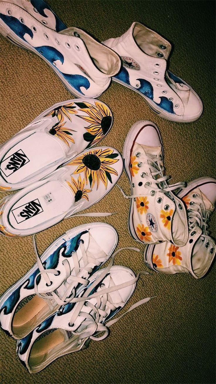 #allstar #converse #vans #shoes - 2019 | Painted shoes ...