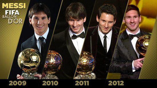 Messi Y Su Cuarto Balon De Oro Balon De Oro Messi Fifa Balon
