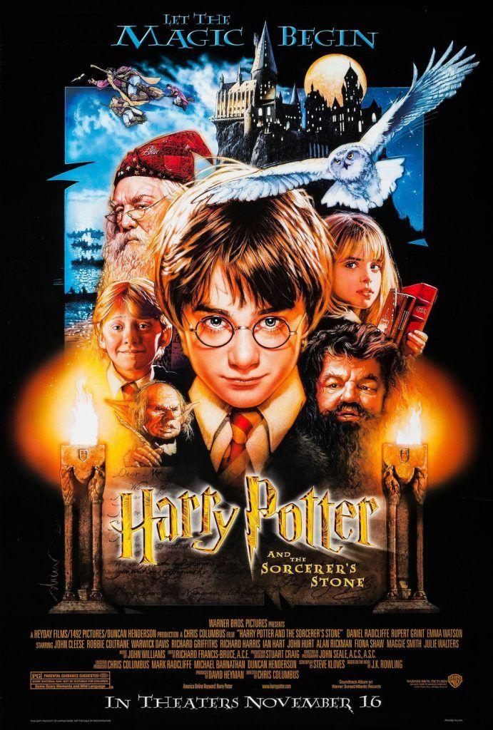 Harry Potter And The Sorcerer S Stone 2001 Izle Cartaz Harry Potter Posteres De Filmes Antigos Harry Potter