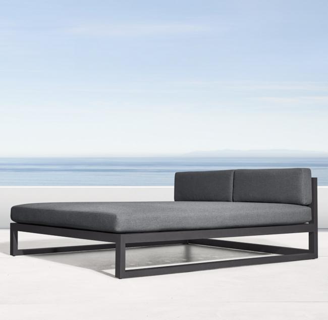 Aegean Aluminum Daybed Outdoor Furniture Decor Outdoor Daybed White Furniture Living Room