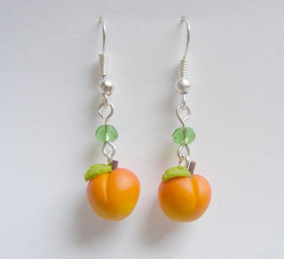 food peach earrings neateats fruit pin by jewelry