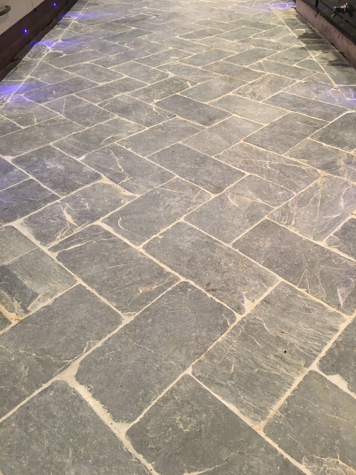 Natural Stone Kitchen Floor Natural Stone Floor Tile Rustic Antique English Herringbone