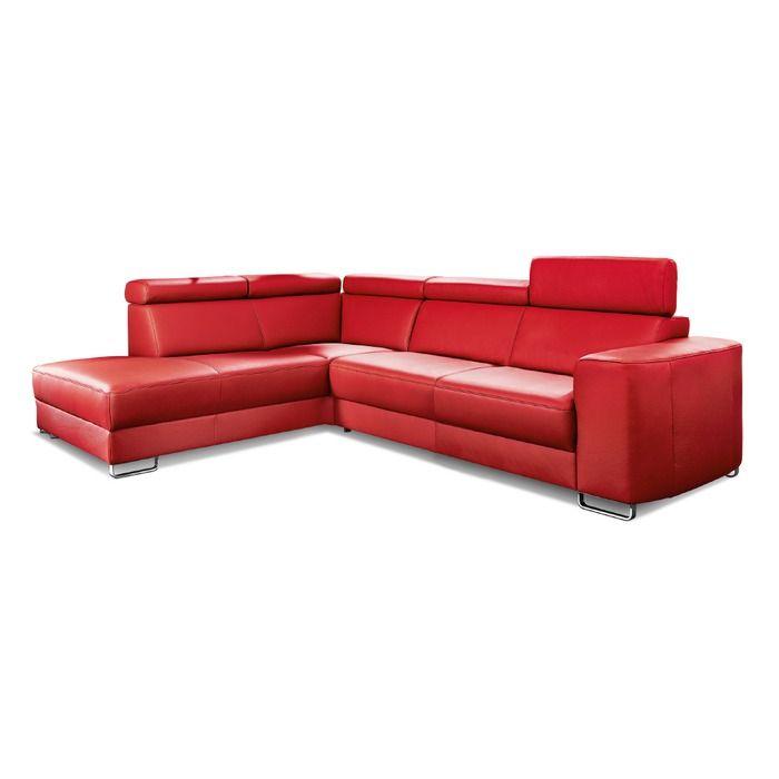 Comfort Line Ecksofa Simon Rot Leder In 2020 Ecksofa Sofa Und