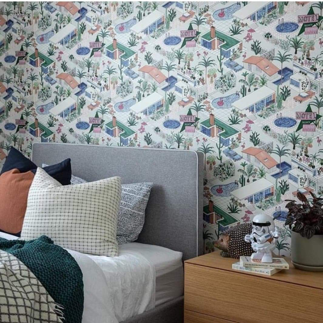Palm Springs, Mid Century Inspired Wallpaper Modern wall