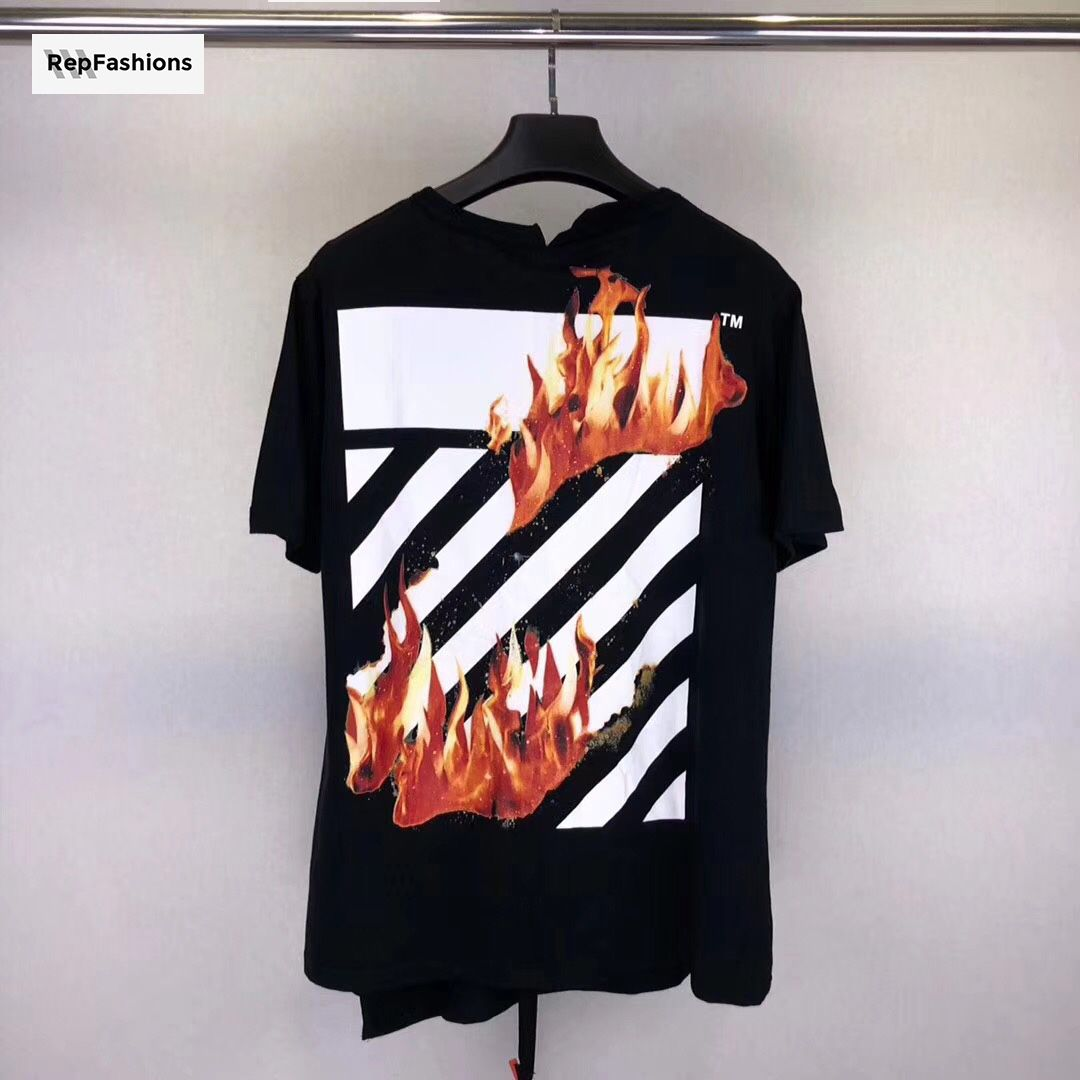 d2d6e7b33cf0 OFF--WHITE FIRE SPLICED T shirt from RepFashions.to