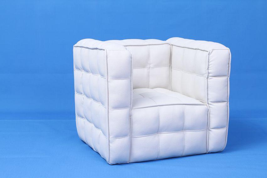 Leather Sofas Patio Wood Frame Single Seat Bread Children Sofa SXBB
