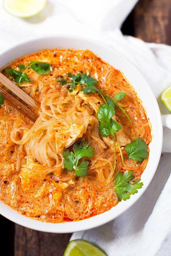 20-Minuten Thai Salmon Soup #easymexicanfoodrecipes