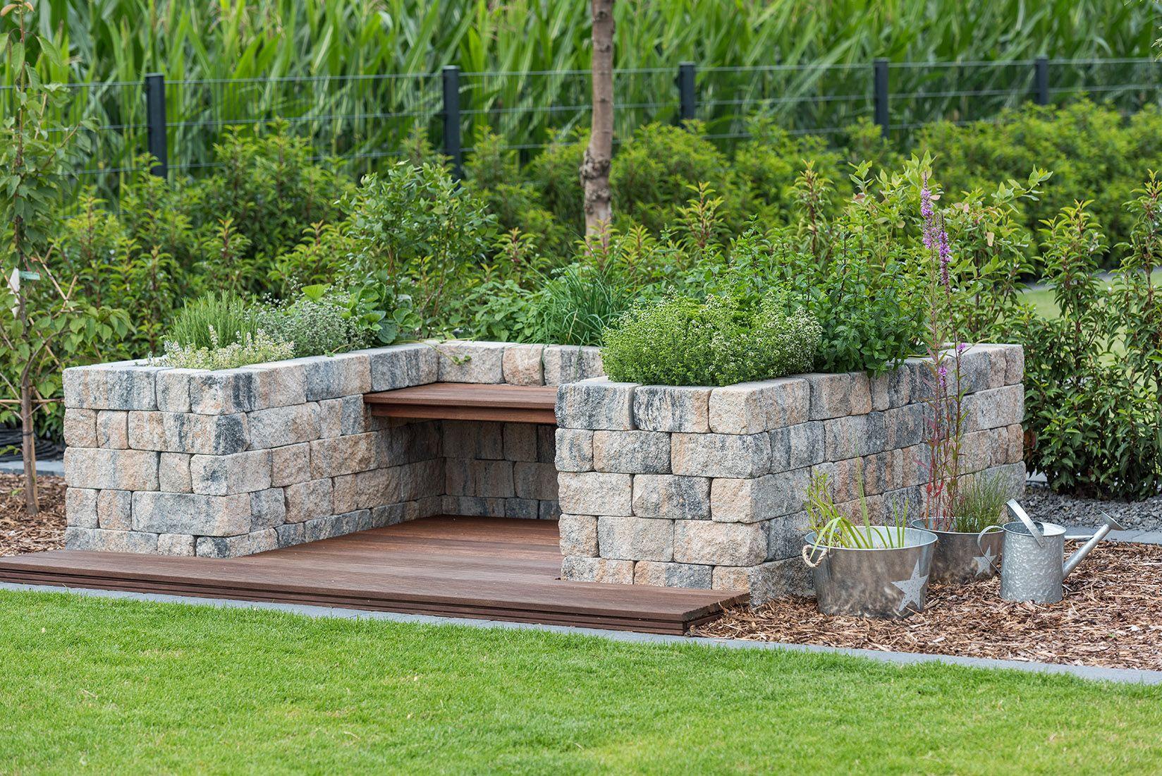 Tolle Ideen für deinen Garten. Mauern als Sitzgelegenheit