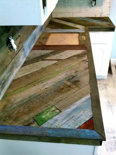 Pallet countertops before finish. Look for finish product on ...