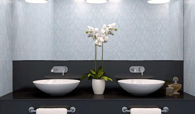 Bathroom Mirror Glass Wall #homedecor