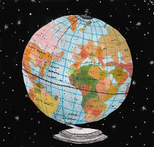 Globe by becca stadtlander for geography geeks pinterest globe globe gumiabroncs Images