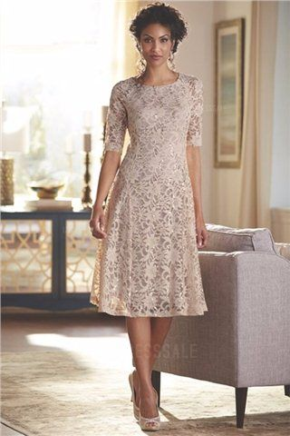 Lace Tea Length Dresses for Grandmother's