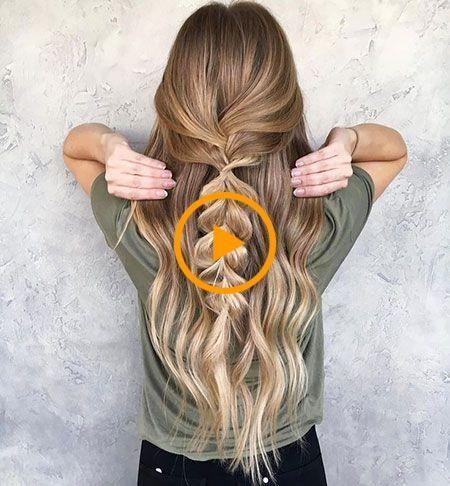 20 lindos peinados simples para cabello largo  – Peinados facile