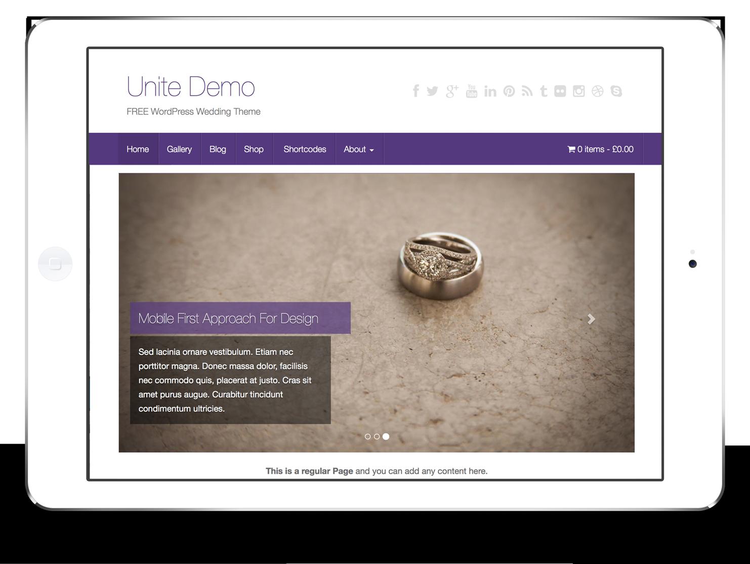 Unite - Colorlib | Wedding free WordPress themes | Pinterest ...