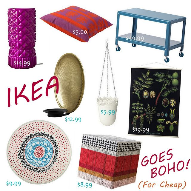 Ikea goes boho cute cheap bohemian decor ideas follow for Cute inexpensive home decor