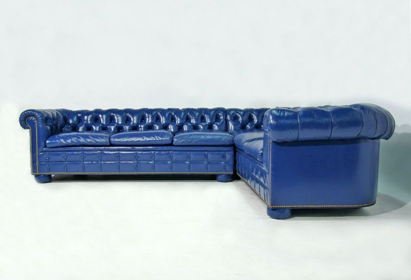 Best Royal Blue Leather Sectional Sofas Bright Blue Leather 400 x 300