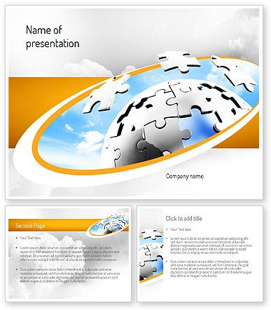 Puzzle Sphere PowerPoint Template http://www.poweredtemplate.com/11212/0/index.html