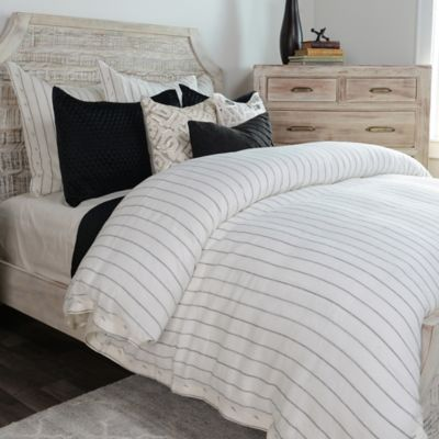 Villa Home Monaco Duvet Cover In Ivory Charcoal Bed Bath