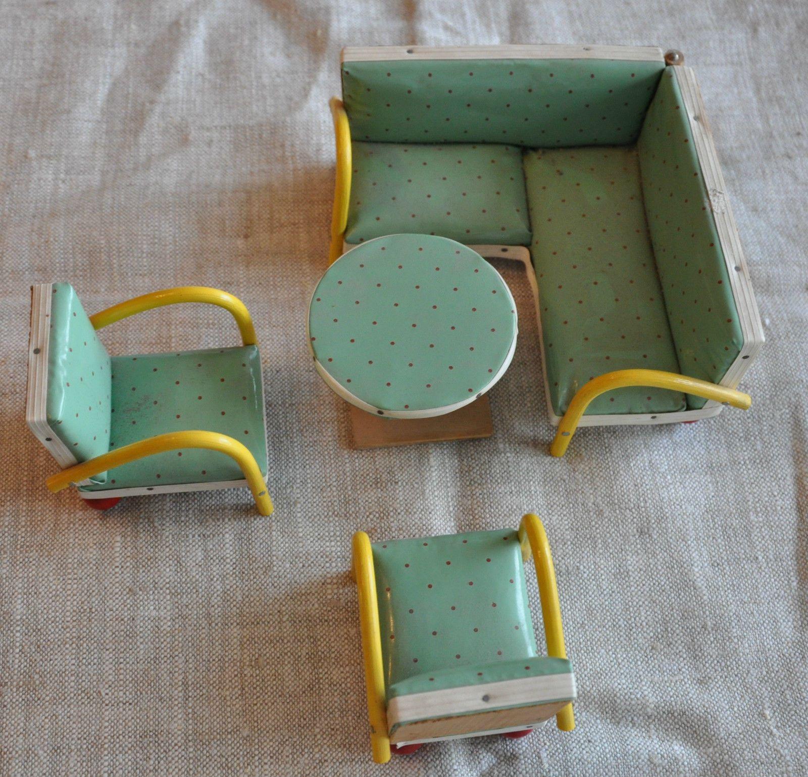 50er Jahre Möbel alte 50er jahre möbel puppenstube rockabilly rarität eckcouch