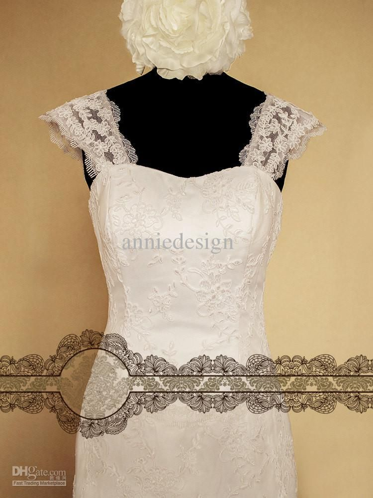 How to make lace straps for wedding dress