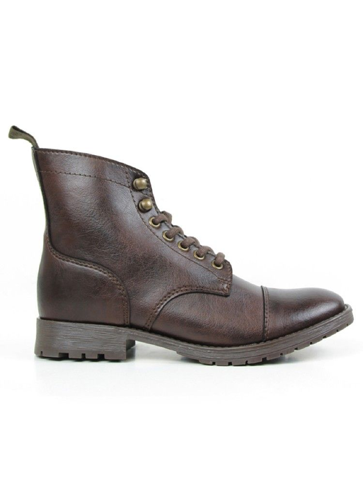 f3e0b700a5df Vegan womens work boot in dark brown by Wills London