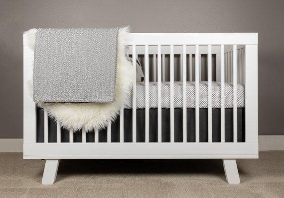 Black And White Crib Bedding Modern Nursery Mini Grid Crib Bedding Set Modern Baby Bedding B