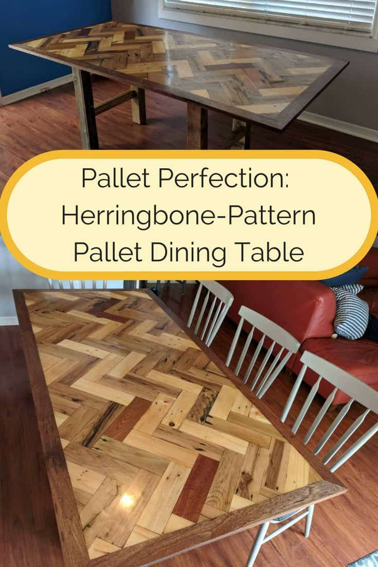 must see herringbone pallet dining table pallet dining on inventive ideas to utilize reclaimed wood pallet projects all you must to know id=91512