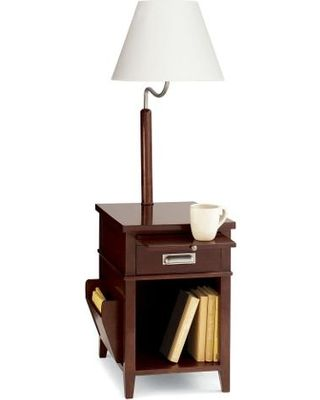 Combination Of Lamp End Table And Magazine Rack In One E Saving Design