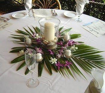 Id E Centre De Table Id E Garder La Feuille De Palmier Le Reste Non D Co Mariage