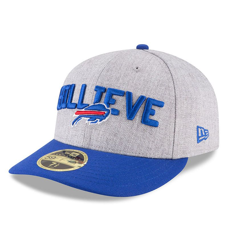 65621a19cde Buffalo Bills New Era 2018 NFL Draft Official On-Stage Low Profile 59FIFTY  Fitted Hat – Heather ...