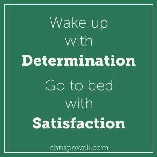 Determination & satistafaction