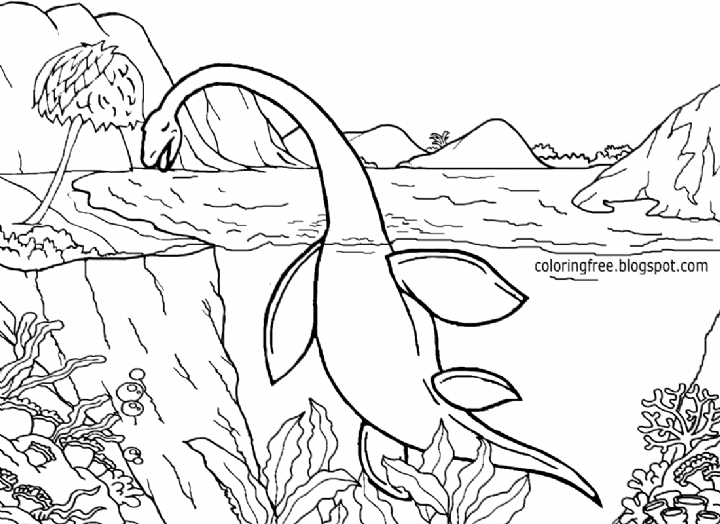 Free Dinosaur Coloring Pictures Printable Realistic Google Search Coloring In 2020 Dinosaur Coloring Pages Ocean Coloring Pages Dinosaur Coloring