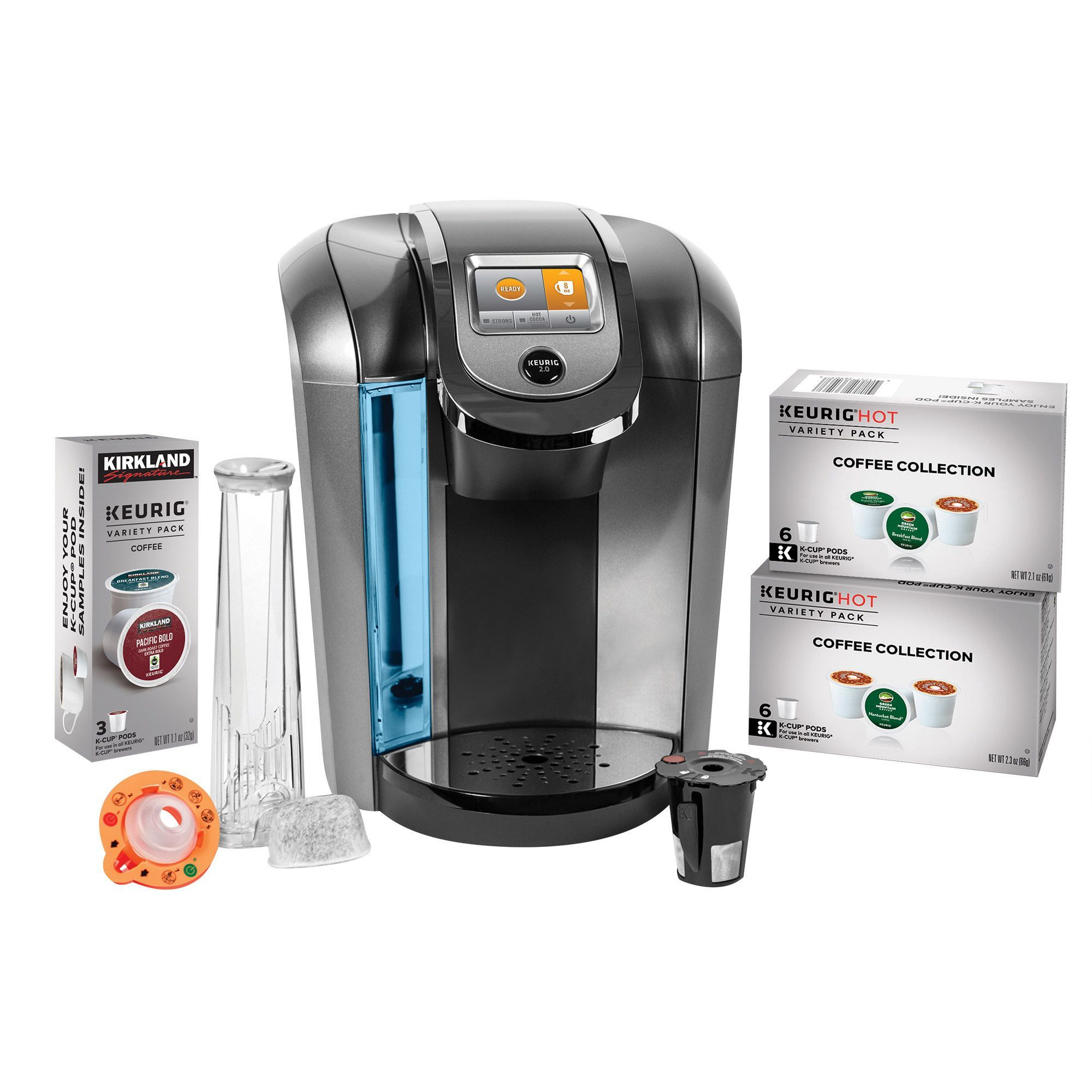 Keurig K525C Single Serve Coffee Maker 15 K-Cup Pods and My K-Cup 2.0 Reusable Coffee Filter ...