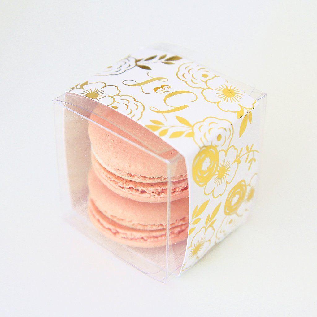 Personalized Gold Rustic Floral Favor Box - Sweet Paper Shop | Favor ...