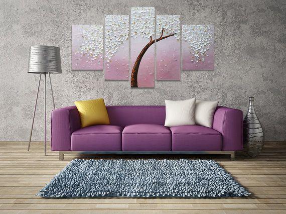 Taille 1  135x80cm(30x50cm,25x65cm,25x80cm,25x65cm,30x50cm)---54 x - peinture epaisse pour mur