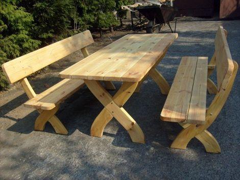 Meble Ogrodowe Drewniane Komplety Stoły Krzesła