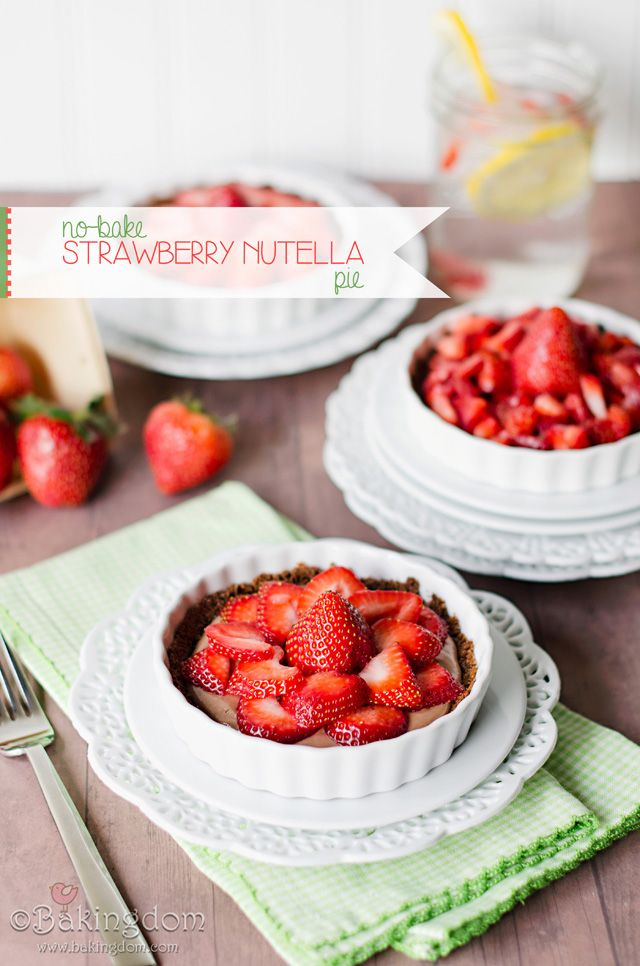 No-bake Strawberry Nutella Pie | ©Bakingdom