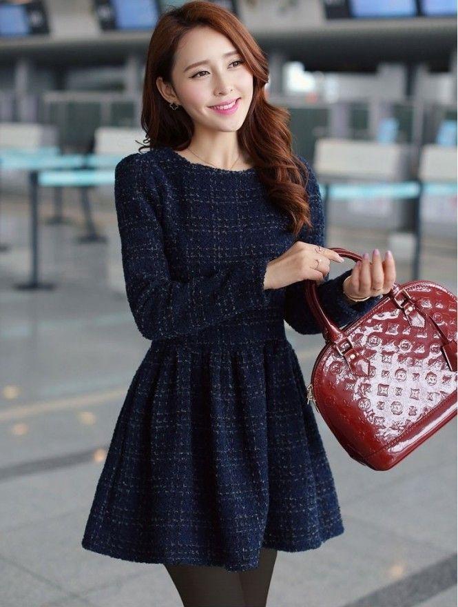 0a38bb496 vestidos-manga-longa Mais. vestidos-manga-longa Mais Moda Inverno ...