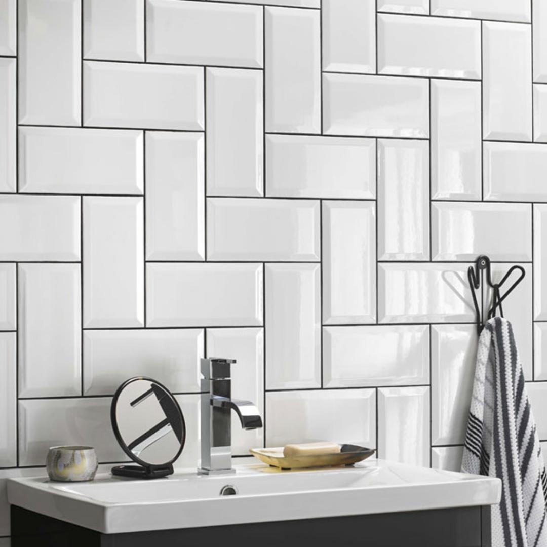 Metro Classic White Ceramic Gloss Wall Tile British Ceramic Tile Specification White Bathroom Tiles Bathroom Tile Designs White Bathroom Interior
