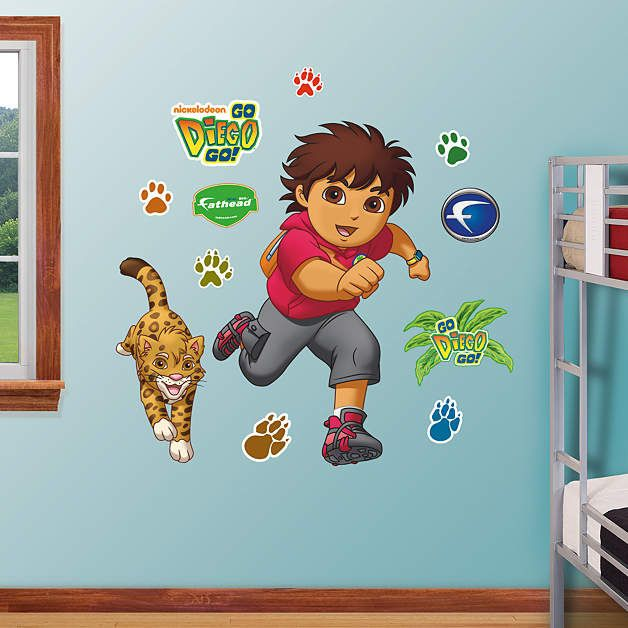 Fathead Go Diego Go Peel and Stick Decal - Wall Sticker Outlet