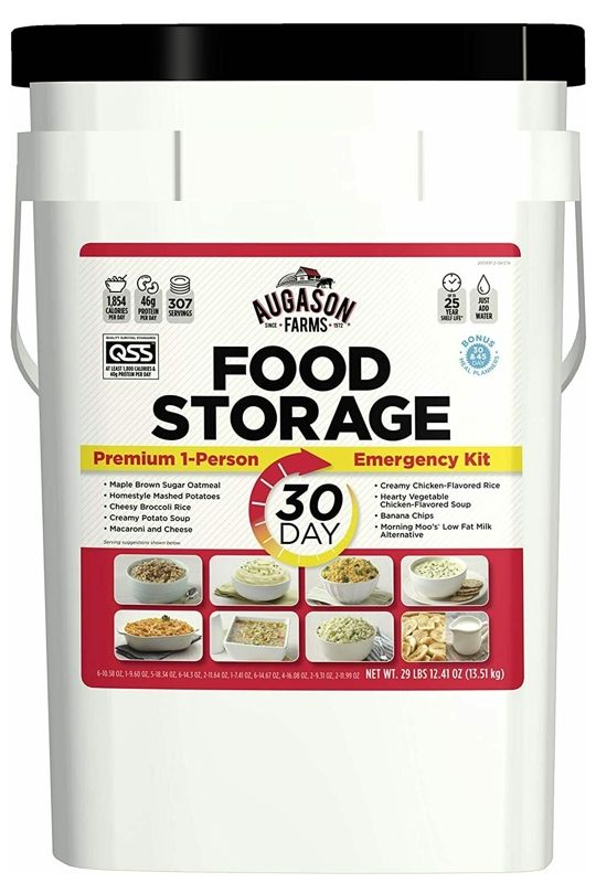Augason Farms 30 Day 1-Person Emergency Preparedness Food Supply (Made In USA…