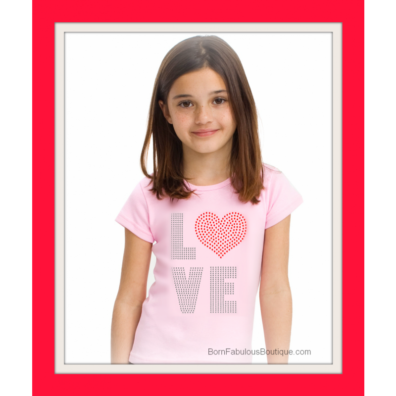 Cute Girls Valentines Day Shirt. Special price $14.99.  Girls and baby sizes!